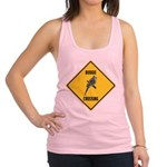 crossing-sign-budgie Racerback Tank Top