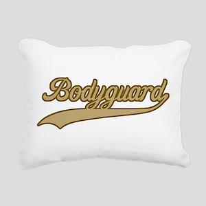 Retro Bodyguard Rectangular Canvas Pillow
