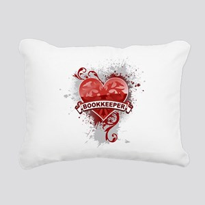 Heart Bookkeeper Rectangular Canvas Pillow