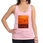 canada-geese-CROP-text.png Racerback Tank Top