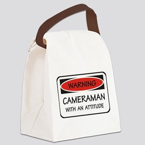 Attitude Cameraman Canvas Lunch Bag
