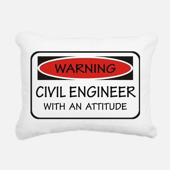 Attitude Civil Engineer Rectangular Canvas Pillow