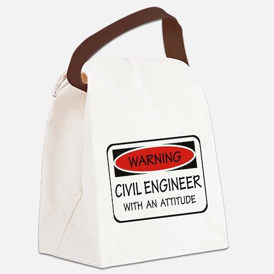 Attitude Civil Engineer Canvas Lunch Bag
