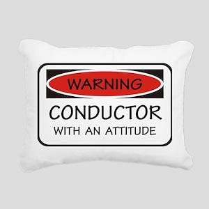 Attitude Conductor Rectangular Canvas Pillow