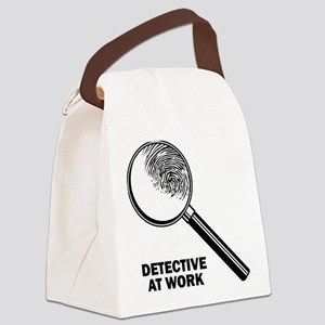 Detective At Work Canvas Lunch Bag