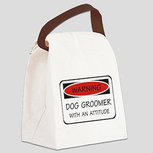 Attitude Dog Groomer Canvas Lunch Bag