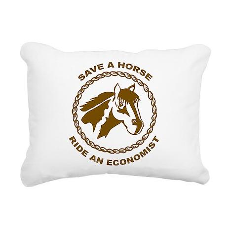 Ride An Economist Rectangular Canvas Pillow