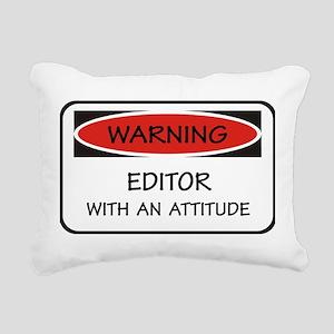 Attitude Editor Rectangular Canvas Pillow