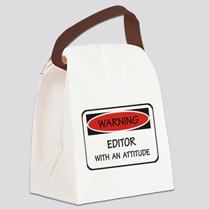 Attitude Editor Canvas Lunch Bag