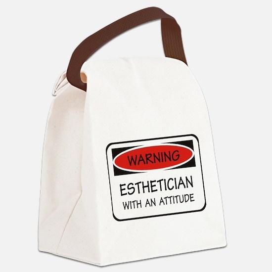 Attitude Esthetician Canvas Lunch Bag