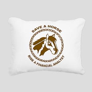 Ride A Financial Analyst Rectangular Canvas Pillow