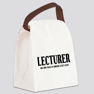 Funny Lecturer Canvas Lunch Bag
