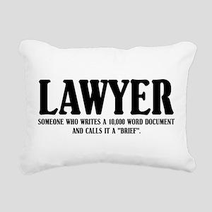 Funny Lawyer Rectangular Canvas Pillow