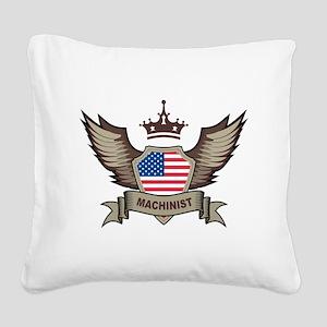 American Machinist Square Canvas Pillow