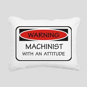 Attitude Machinist Rectangular Canvas Pillow