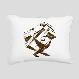 Vintage Mailman Rectangular Canvas Pillow