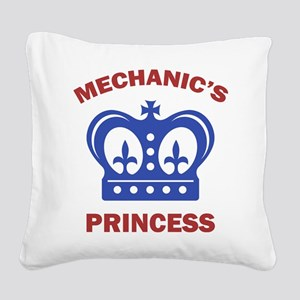 Mechanic's Princess Square Canvas Pillow
