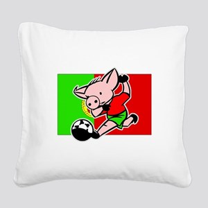 portugal-soccer-pig Square Canvas Pillow