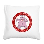 FIN-hugging-hippo-christmas Square Canvas Pill