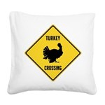 crossing-sign-turkey Square Canvas Pillow
