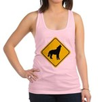 wolf-crossing-sign.... Racerback Tank Top