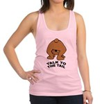 talk-tail-bear-2 Racerback Tank Top