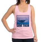 FIN-whale-save-them Racerback Tank Top
