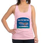 FIN-whale-talk-tail Racerback Tank Top