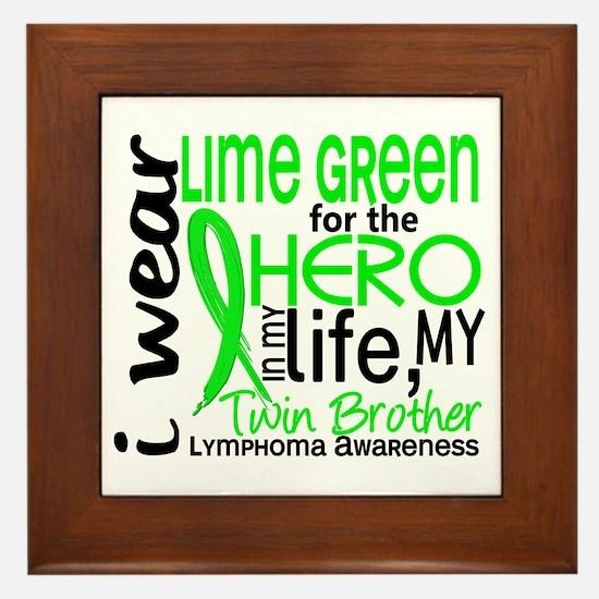 Hero in Life 2 Lymphoma Framed Tile