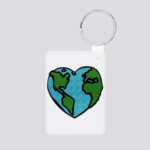 Earth Day Aluminum Photo Keychain