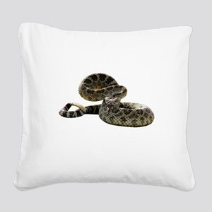 FIN-rattlesnake Square Canvas Pillow