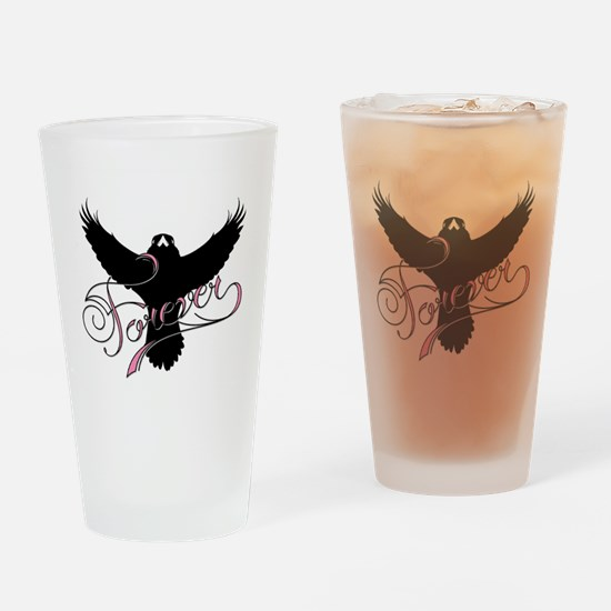 Collingwood Forever in pink Drinking Glass