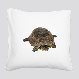 FIN-blandings-turtle Square Canvas Pillow
