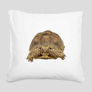 Tortoise Photo Square Canvas Pillow