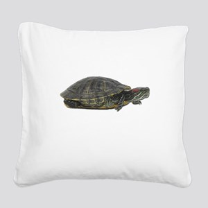 FIN-turtle-red-ear-... Square Canvas Pillow