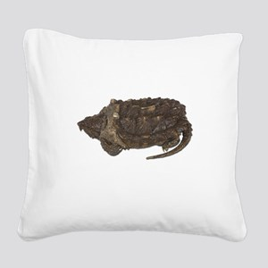 FIN-snapping-turtle... Square Canvas Pillow
