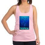 tropical-fish-CROP-text Racerback Tank Top