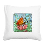 butterfly-6 Square Canvas Pillow