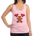 FIN-teddy-bear-hearts Racerback Tank Top