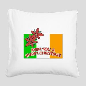 FIN-irish-merry-christmas Square Canvas Pillow