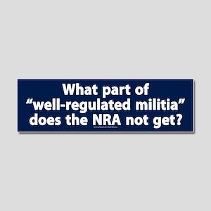 Well-regulated militia Car Magnet 10 x 3