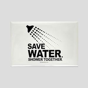 Save water. Shower together. - Rectangle Magnet