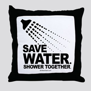 Save water. Shower together. -  Throw Pillow