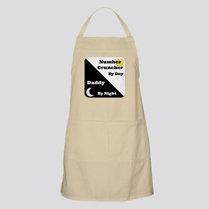 Number Cruncher by day Daddy by night Apron