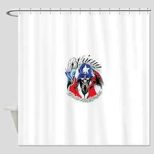 Boricua Design Shower Curtain