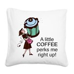 FIN-coffee-perks-me-up Square Canvas Pillow