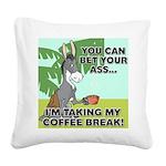 FIN-ass-coffee-break Square Canvas Pillow