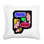 FIN-coffee-break-retro Square Canvas Pillow