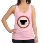 FIN-life-after-coffee Racerback Tank Top