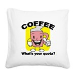 FIN-coffee-quota Square Canvas Pillow